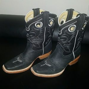 Shoes - Genuine leather cowboy boots